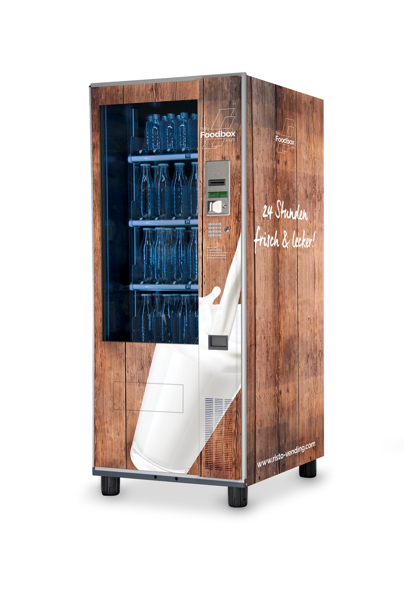Foodbox Light Flaschenautomat-Warenautomat-Foodbox-Light-Bottle-Vending-Machine-Braun