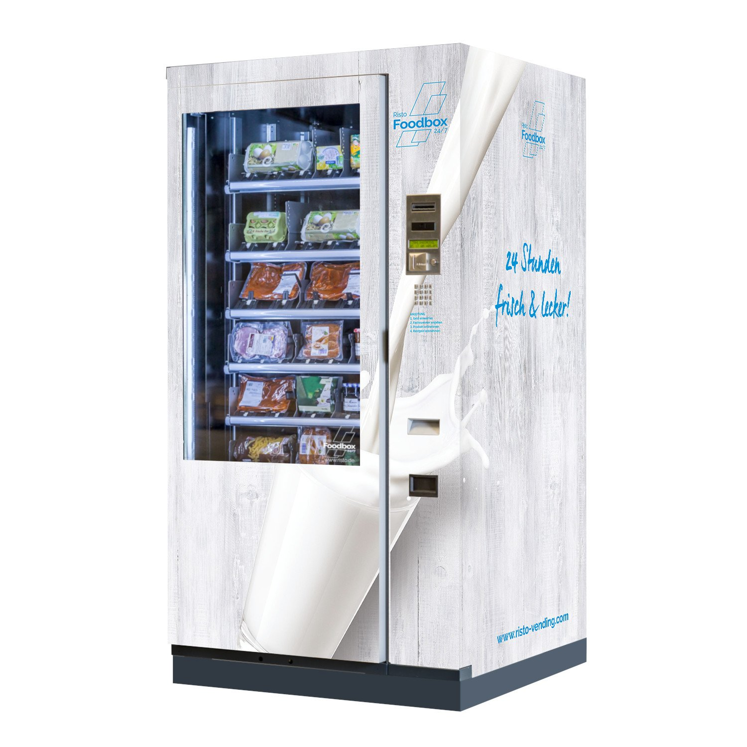 refrigerated vending machine 'Foodbox' warenautomat-risto-foodbox-weiss